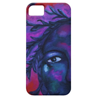 Mother Watching All Abstract Red Violet Compassion iPhone 5 Case