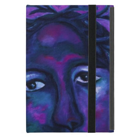 Mother Watching All Abstract Red Violet Compassion Cover For iPad Mini