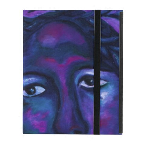 Mother Watching All Abstract Red Violet Compassion iPad Folio Case