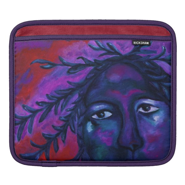 Mother Watching All Abstract Red Violet Compassion iPad Sleeve