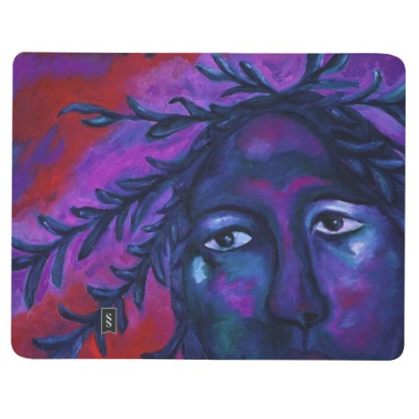 Mother Watching All Abstract Red Violet Compassion Journal