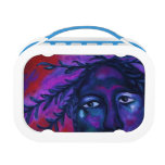 Mother Watching All Abstract Red Violet Compassion Yubo Lunch Box