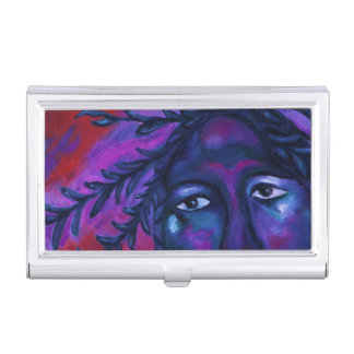 Mother Watching All Abstract Red Violet Compassion Business Card Holders