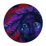 Mother Watching All Abstract Red Violet Compassion Set Of Poker Chips