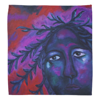 Mother Watching All Abstract Red Violet Compassion Bandanna