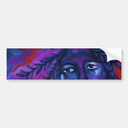 Mother Watching All – Crimson & Violet Compassion Bumper Sticker