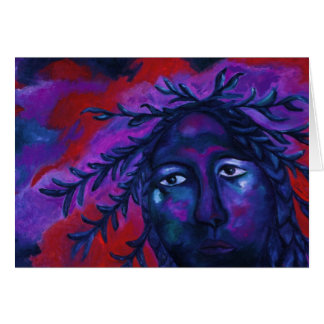 Mother Watching All – Crimson & Violet Compassion Greeting Card