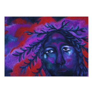 Mother Watching All – Crimson & Violet Compassion Card