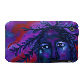 Mother Watching All – Crimson & Violet Compassion iPhone 3 Cover