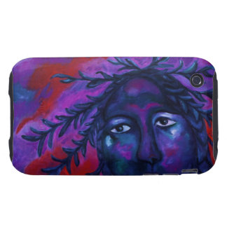 Mother Watching All – Crimson & Violet Compassion Tough iPhone 3 Cover