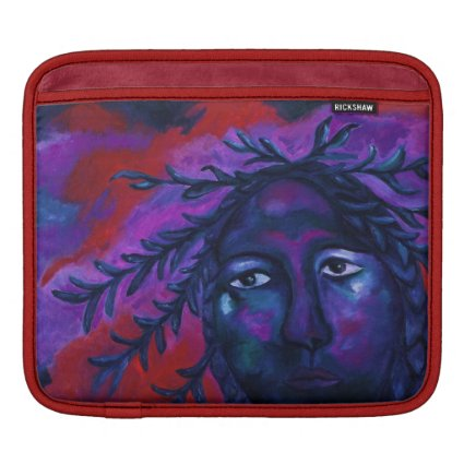 Mother Watching All – Crimson & Violet Compassion Sleeve For iPads