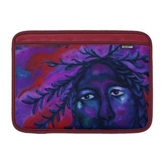 Mother Watching All – Crimson & Violet Compassion MacBook Air Sleeve
