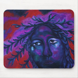 Mother Watching All – Crimson & Violet Compassion Mouse Pad