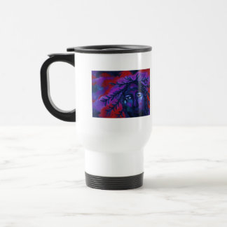 Mother Watching All – Crimson & Violet Compassion Mug