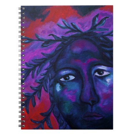Mother Watching All – Crimson & Violet Compassion Notebook