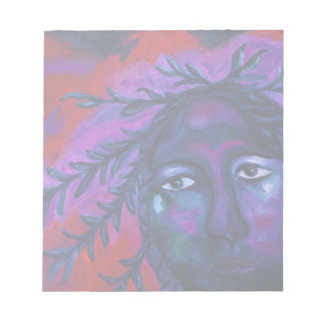 Mother Watching All – Crimson & Violet Compassion Note Pad