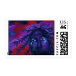 Mother Watching All – Crimson & Violet Compassion Postage Stamps