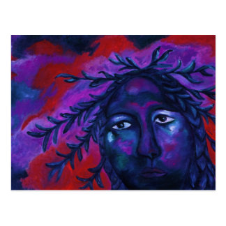 Mother Watching All – Crimson & Violet Compassion Postcard