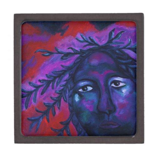 Mother Watching All – Crimson & Violet Compassion Premium Keepsake Boxes