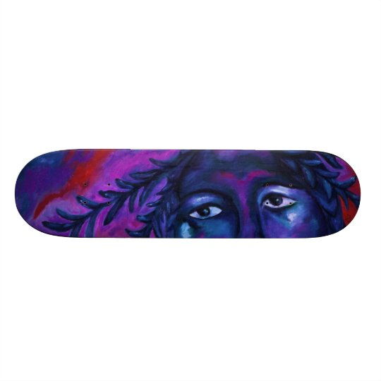 Mother Watching All – Crimson & Violet Compassion Skateboard