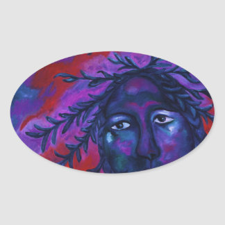 Mother Watching All – Crimson & Violet Compassion Stickers
