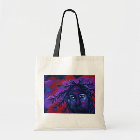 Mother Watching All – Crimson & Violet Compassion Tote Bag