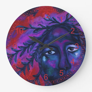 Mother Watching All, Red Violet Compassion Goddess Clock