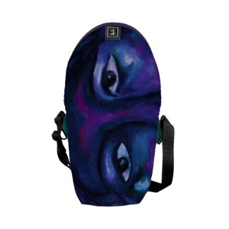 Mother Watching All - Red Violet Compassion Mini Messenger Bags