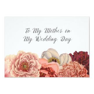 Mother Wedding Day Thank You Card