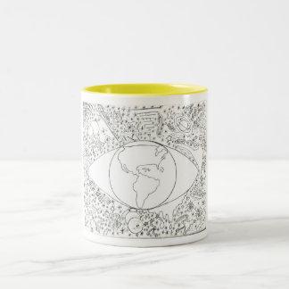 mother weeps 1 Two-Tone coffee mug