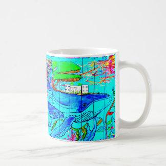 mother whale with baby coffee mug