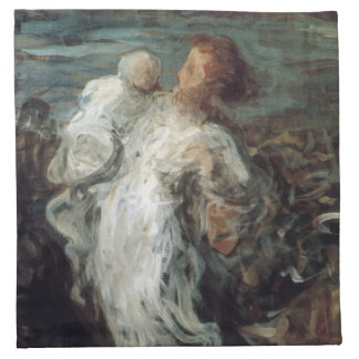 """""""Mother with Child"""" cloth napkins"""