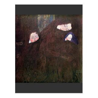 Mother with Children by Gustav Klimt Postcard