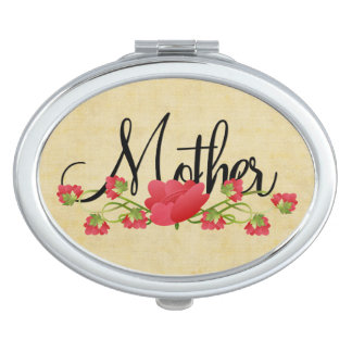 Mother with Spring Flowers Mirror For Makeup