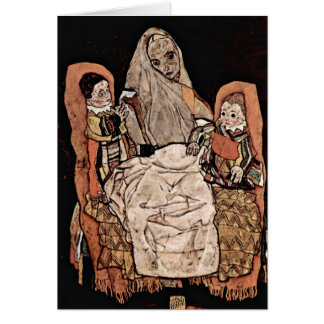 Mother With Two Children By Egon Schiele Greeting Cards