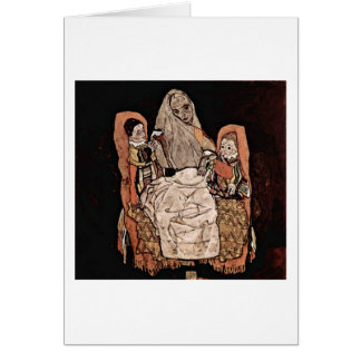Mother With Two Children By Egon Schiele Card