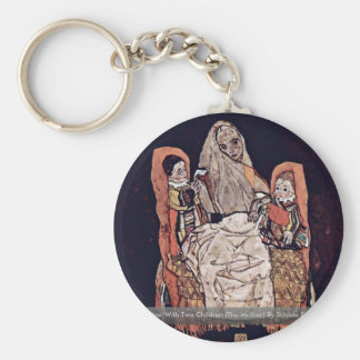 Mother With Two Children (The Mother) Keychains