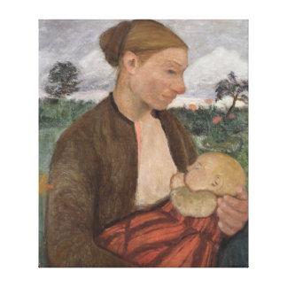 Mother y Child, 1903 Impresion En Lona