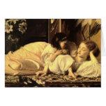 Mother y niño - tarjeta de señor Leighton