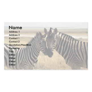 Mother zebra and young zebra business card templates