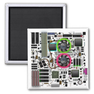 Motherboard 2 Inch Square Magnet