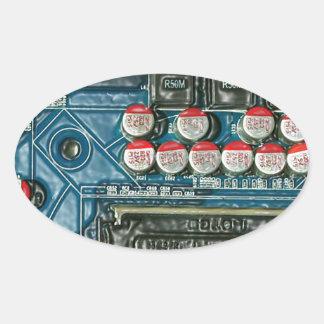 Motherboard Art.jpg Oval Sticker