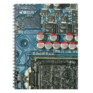 Motherboard Art.jpg Spiral Notebook