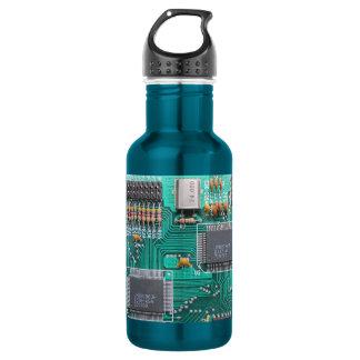 Motherboard, circuit board photo water bottle