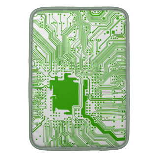 motherboard computer circuit - green & white sleeve for MacBook air