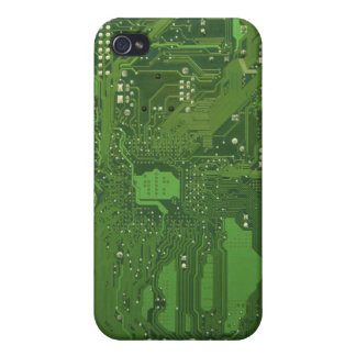 Motherboard in Green iPhone 4/4S Cover