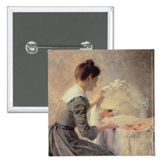 Motherhood, 1898 2 inch square button