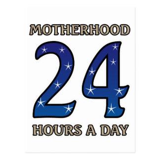 Motherhood 24 Hours Postcard