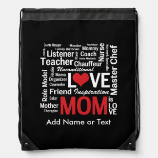 Motherhood - All the Amazing Things Mothers Do Drawstring Bag
