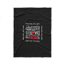 Motherhood - All the Amazing Things Mothers Do Fleece Blanket
